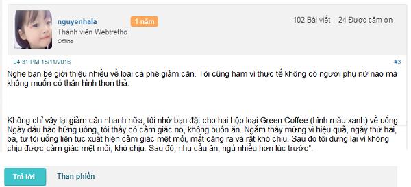 trà giảm cân green coffe có tốt không