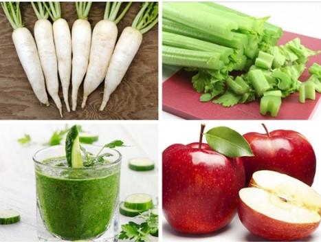 Nước ép củ cải đường và cần tây giảm cân