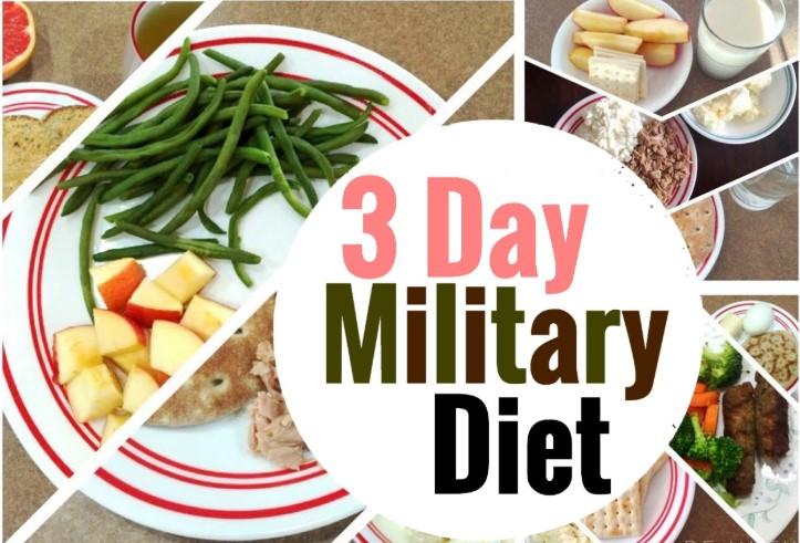 Thực đơn ăn kiêng kiểu quân đội trong 3 ngày